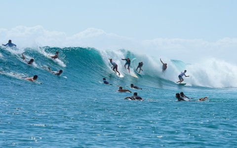 Snapper Rocks (photo Shayne Nienaber)... it's crowded, you get it.